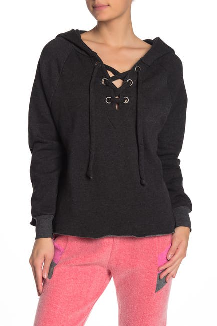 Image of WILDFOX Lace-Up Hutton Sweater