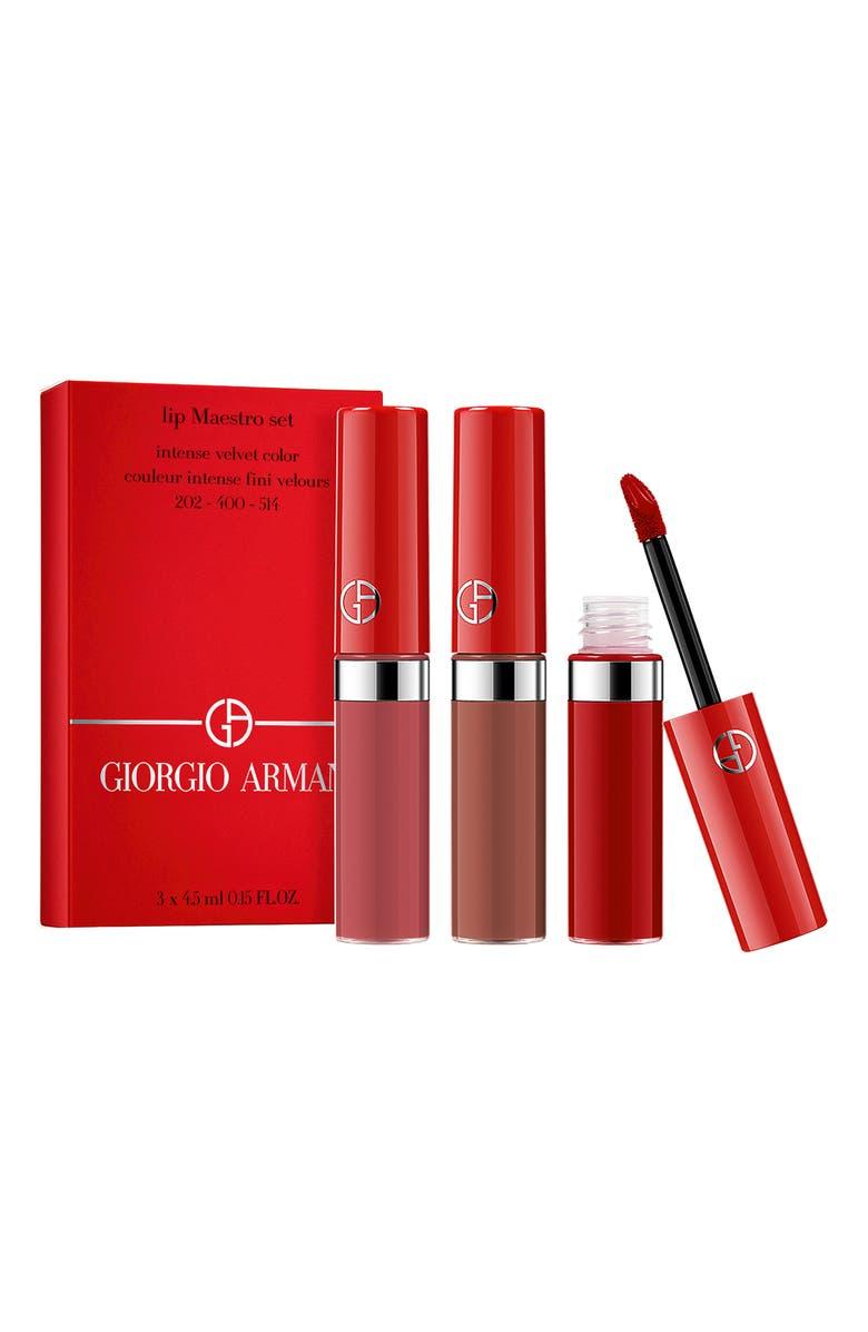 GIORGIO ARMANI Lip Maestro Travel Trio, Main, color, 000