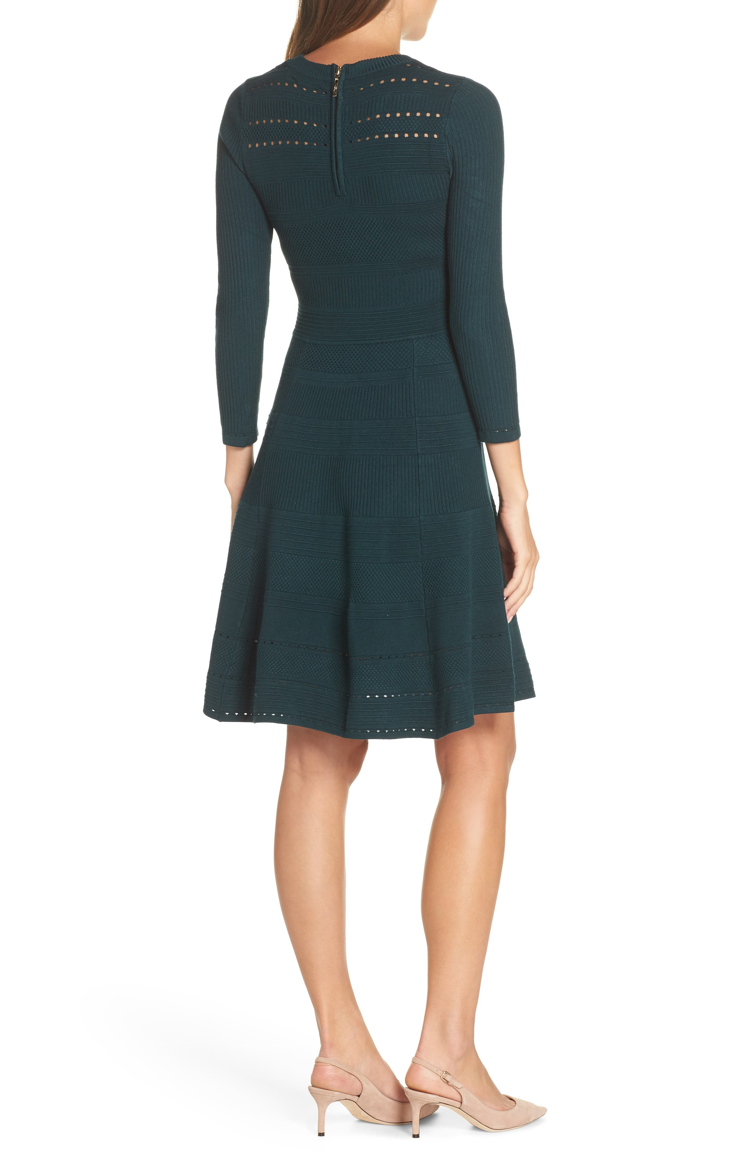 ,                             Fit & Flare Sweater Dress,                             Alternate thumbnail 15, color,                             315