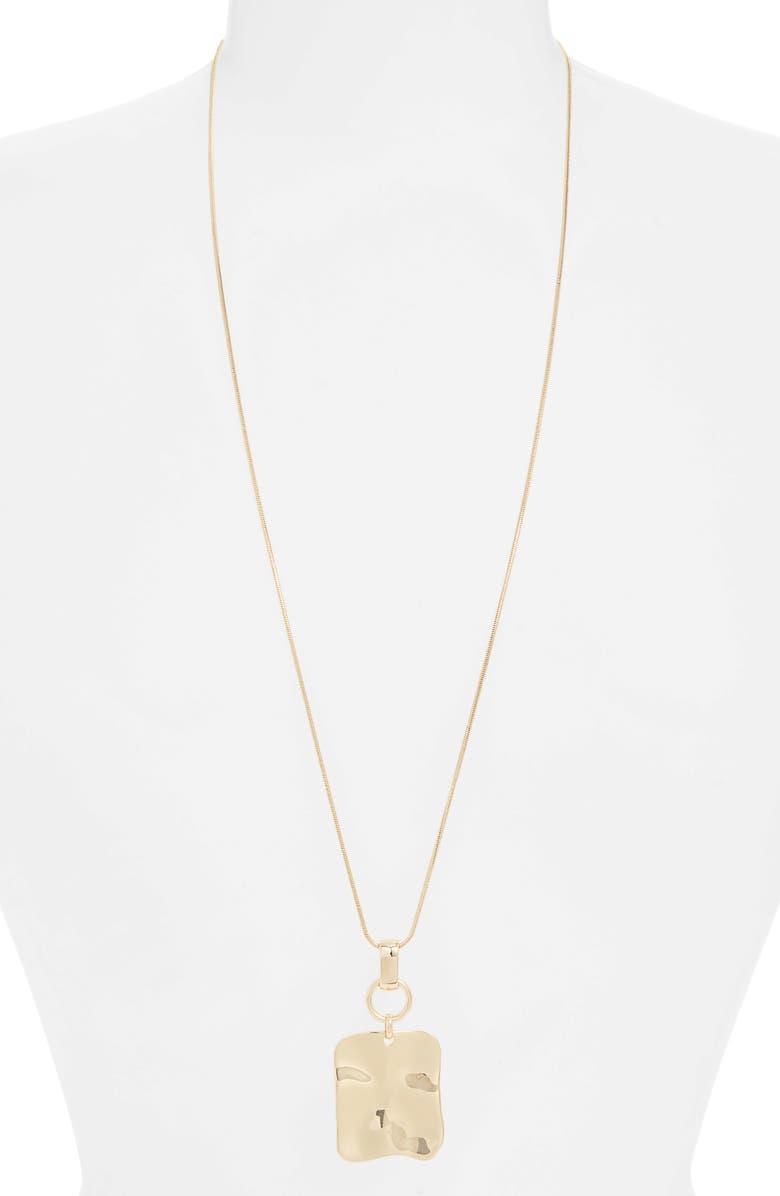 HALOGEN<SUP>®</SUP> Molten Adjustable Pendant Necklace, Main, color, GOLD