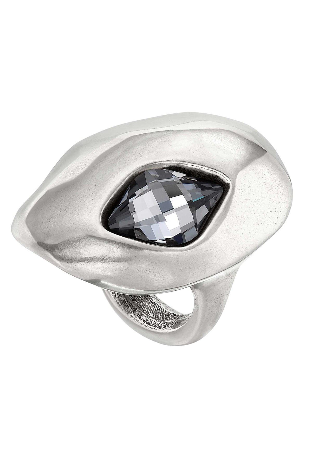 Image of Uno De 50 On the Moon Gray Swarovski Crystal Accented Shield Ring