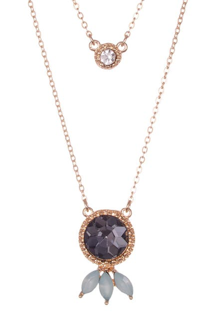 Image of Olivia Welles Alba Simulated Crystal Accent Layered Pendant Necklace