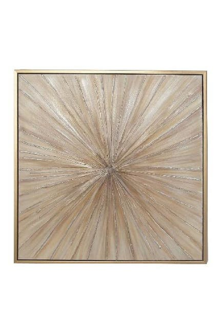 Image of Willow Row Contemporary Bursting Fir Wood Framed Canvas Wall Art
