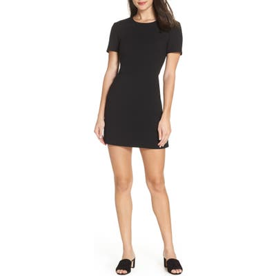 French Connection Sundae Whisper Minidress, Black
