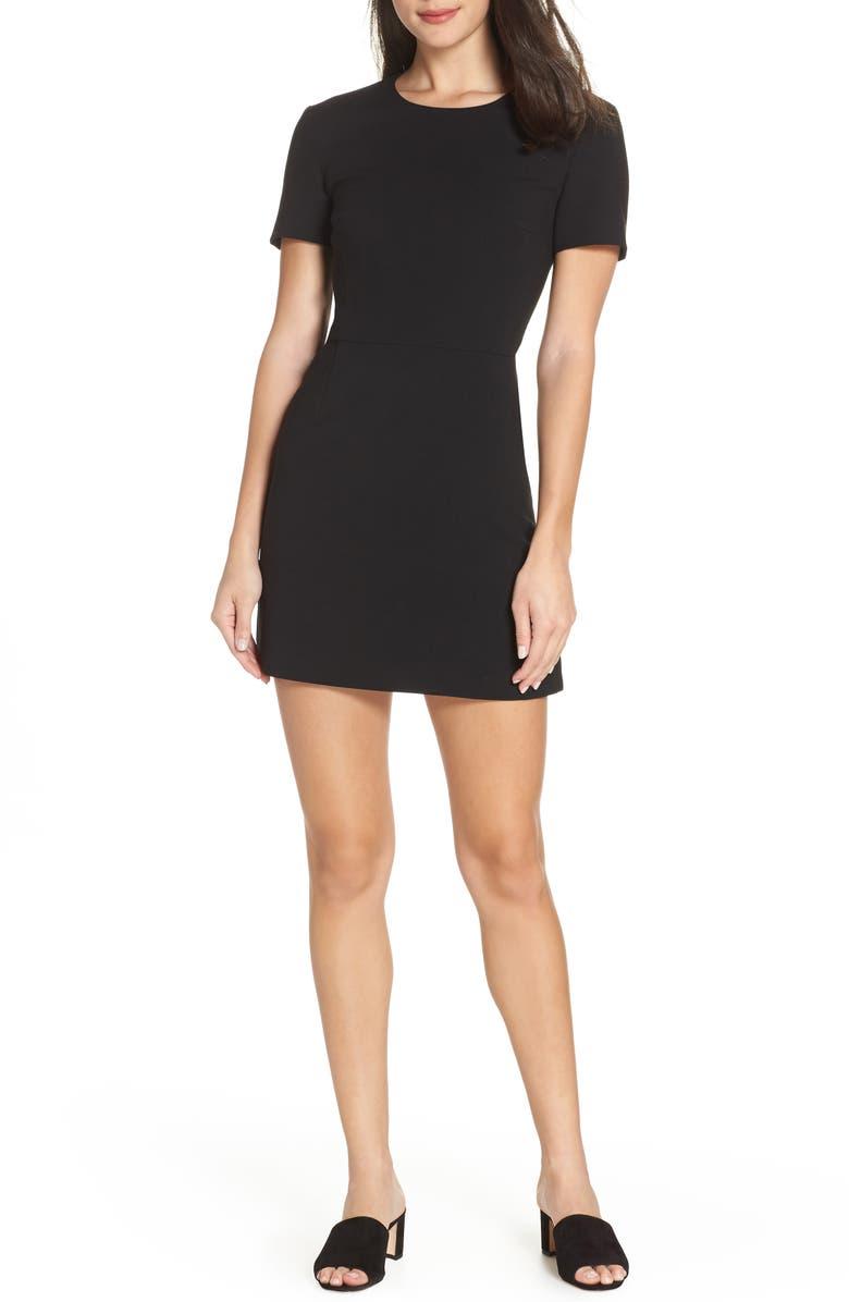 FRENCH CONNECTION Sundae Whisper Minidress, Main, color, BLACK