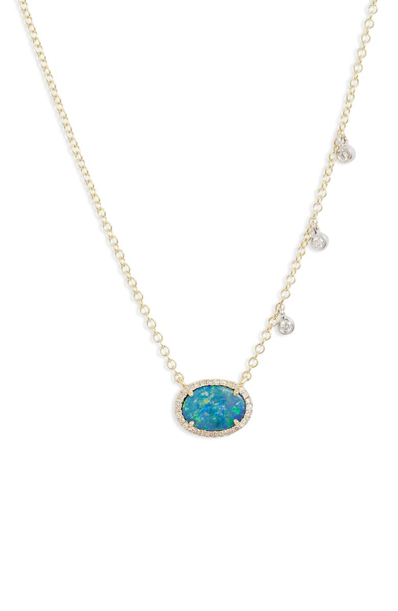 MEIRA T Opal & Diamond Necklace, Main, color, YELLOW GOLD