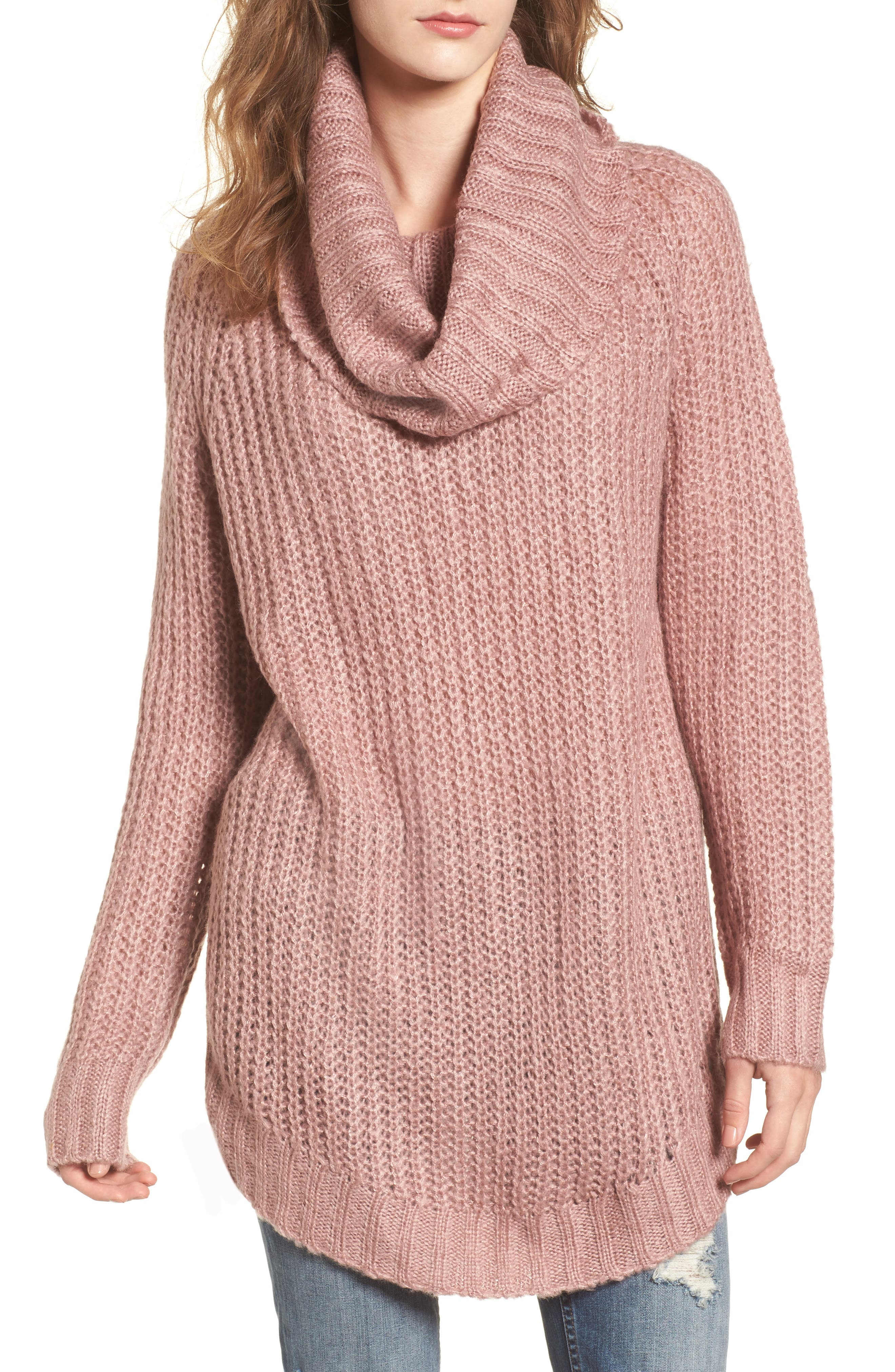 Cowl Neck Sweater, Main, color, 680