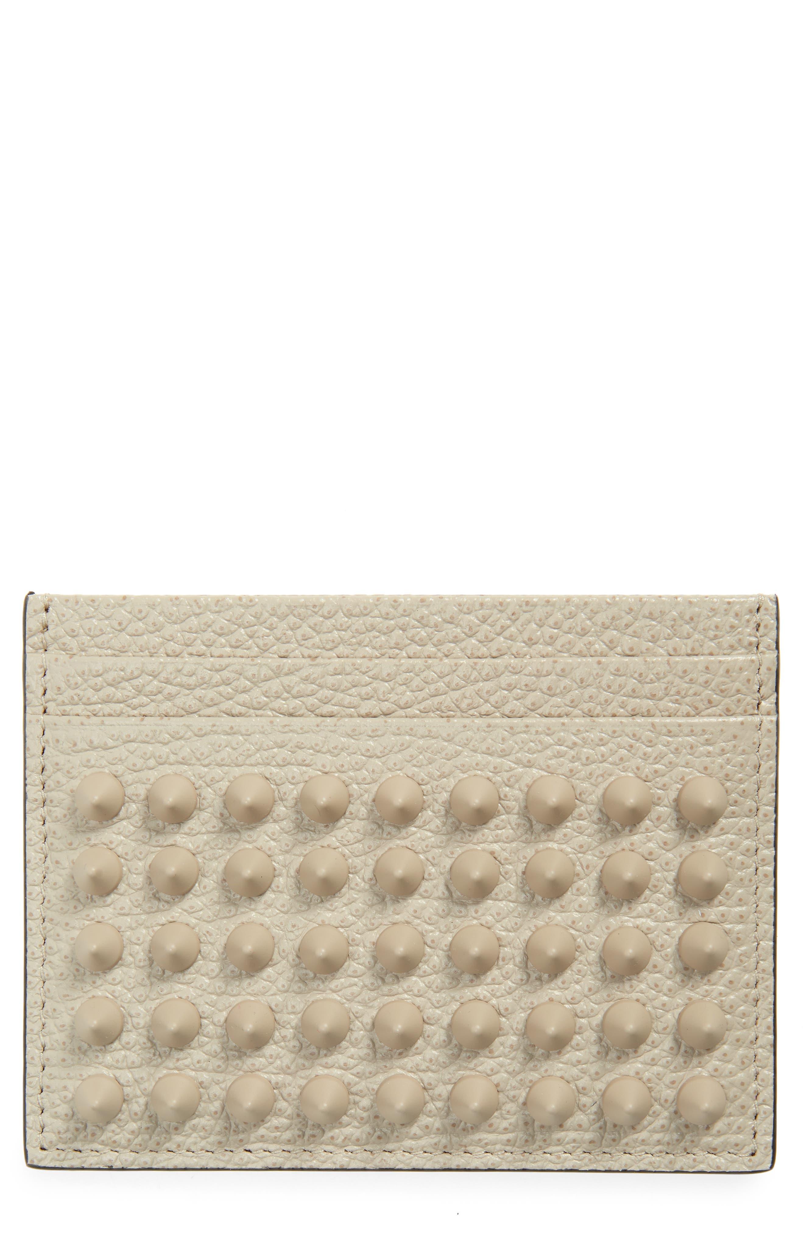 Kios Spikes Calfskin Leather Card Case
