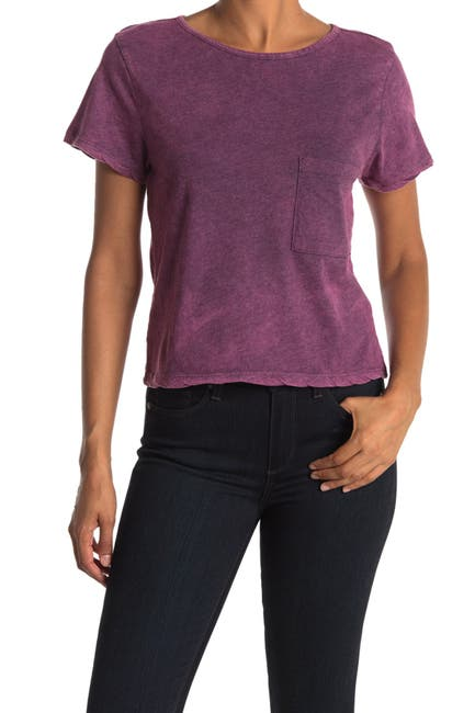 Image of Threads 4 Thought Maggie Crop Mineral Wash T-Shirt