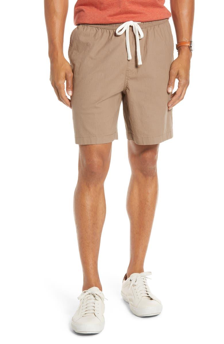 1901 Slub Elastic Waist Slim Fit Shorts, Main, color, 210
