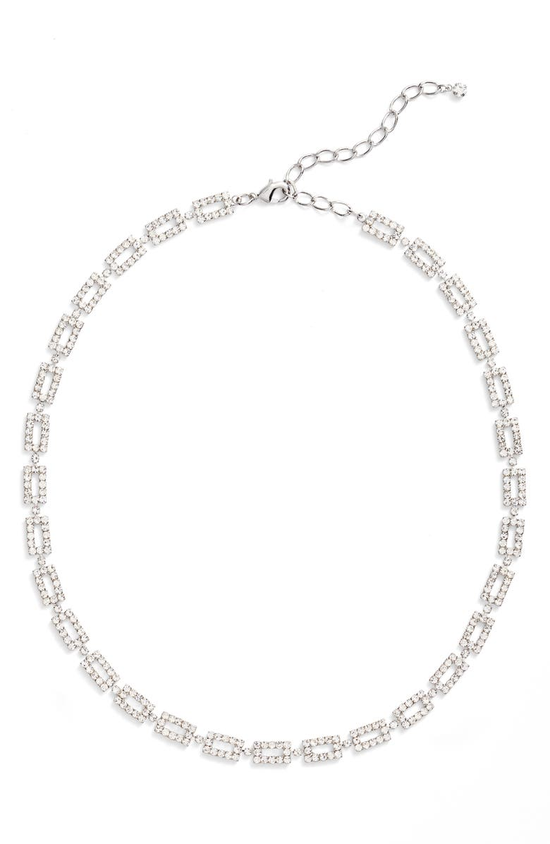 CRISTABELLE Crystal Link Collar Necklace, Main, color, CRYSTAL