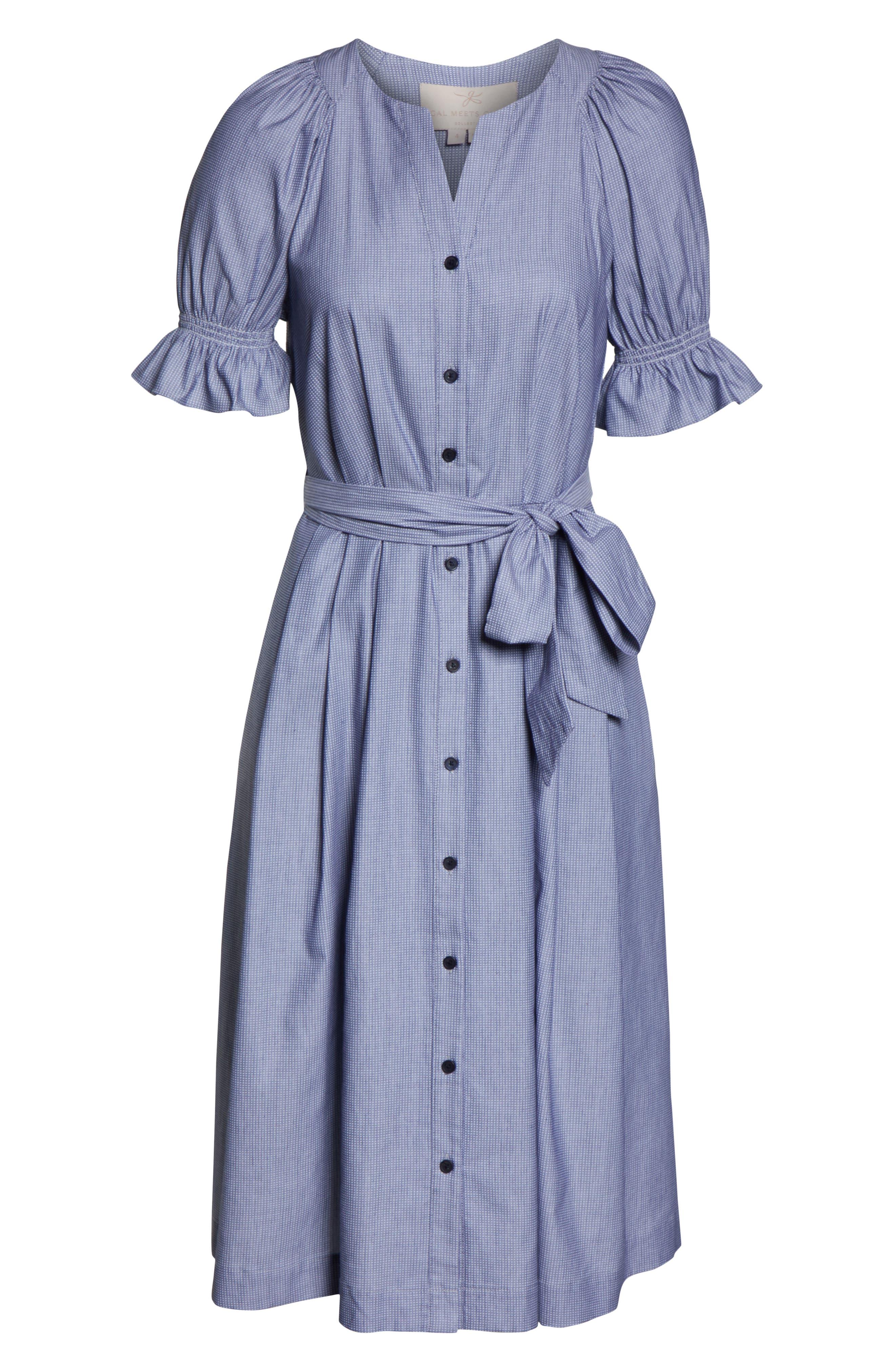 ,                             Daisy Cotton Dobby Shirtdress,                             Alternate thumbnail 5, color,                             425
