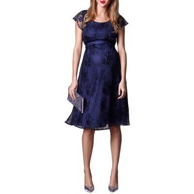 Tiffany Rose April Maternity/nursing Dress, Blue