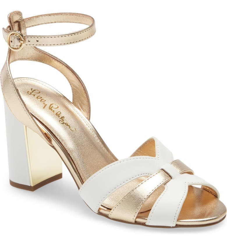 LILLY PULITZER<SUP>®</SUP> Alana Sandal, Main, color, WHITE NAPPA LEATHER