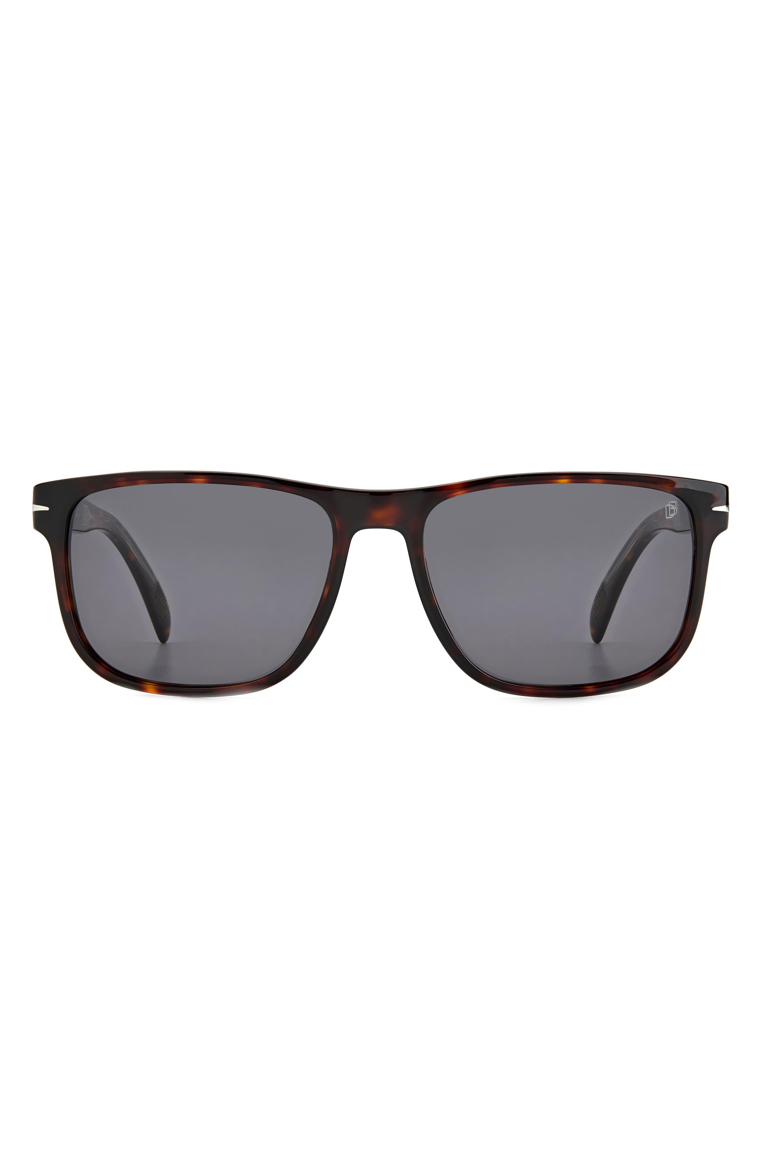 57mm International Fit Rectangular Sunglasses