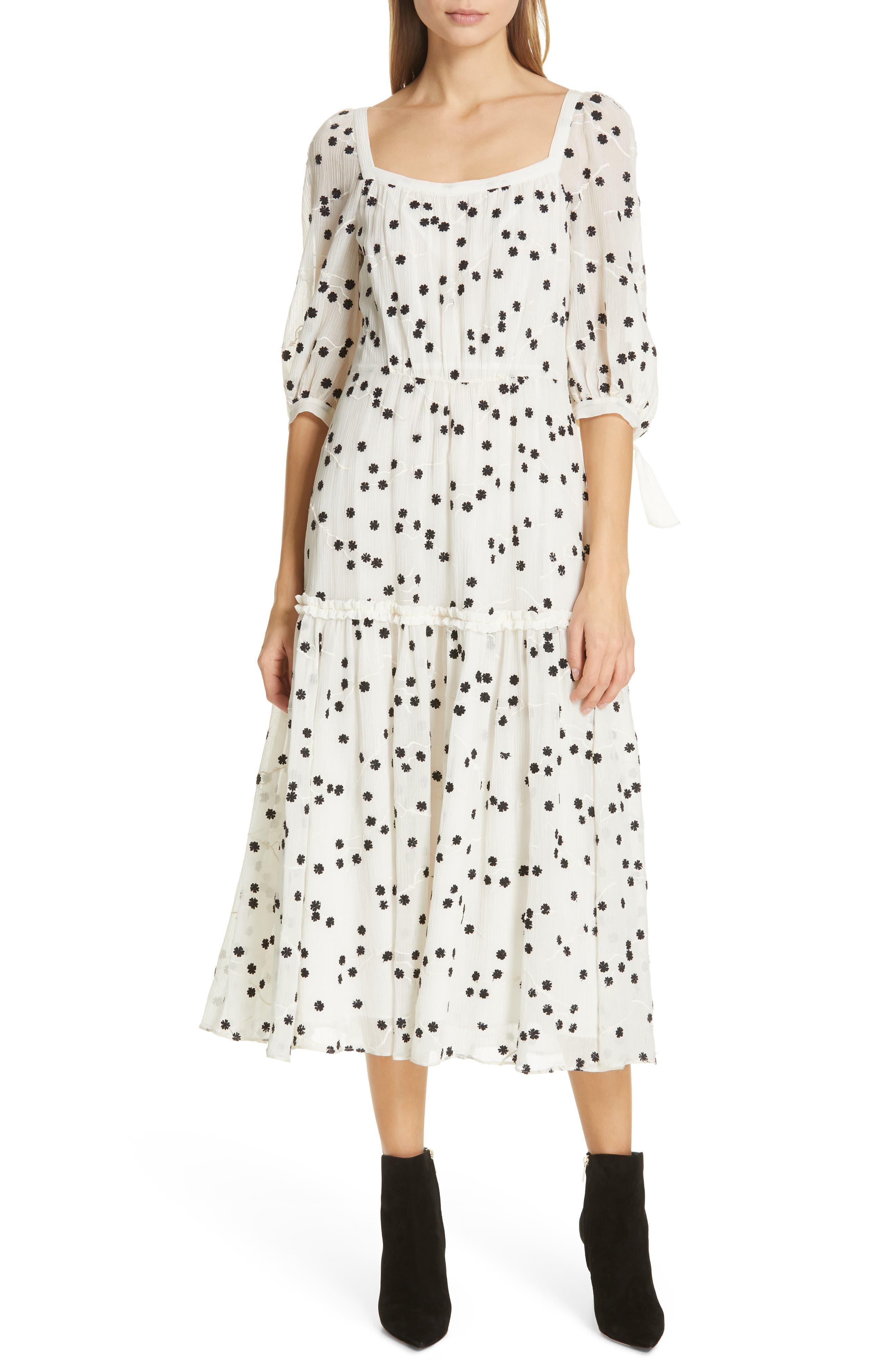 Rebecca Taylor Allessandra Midi Dress, Ivory