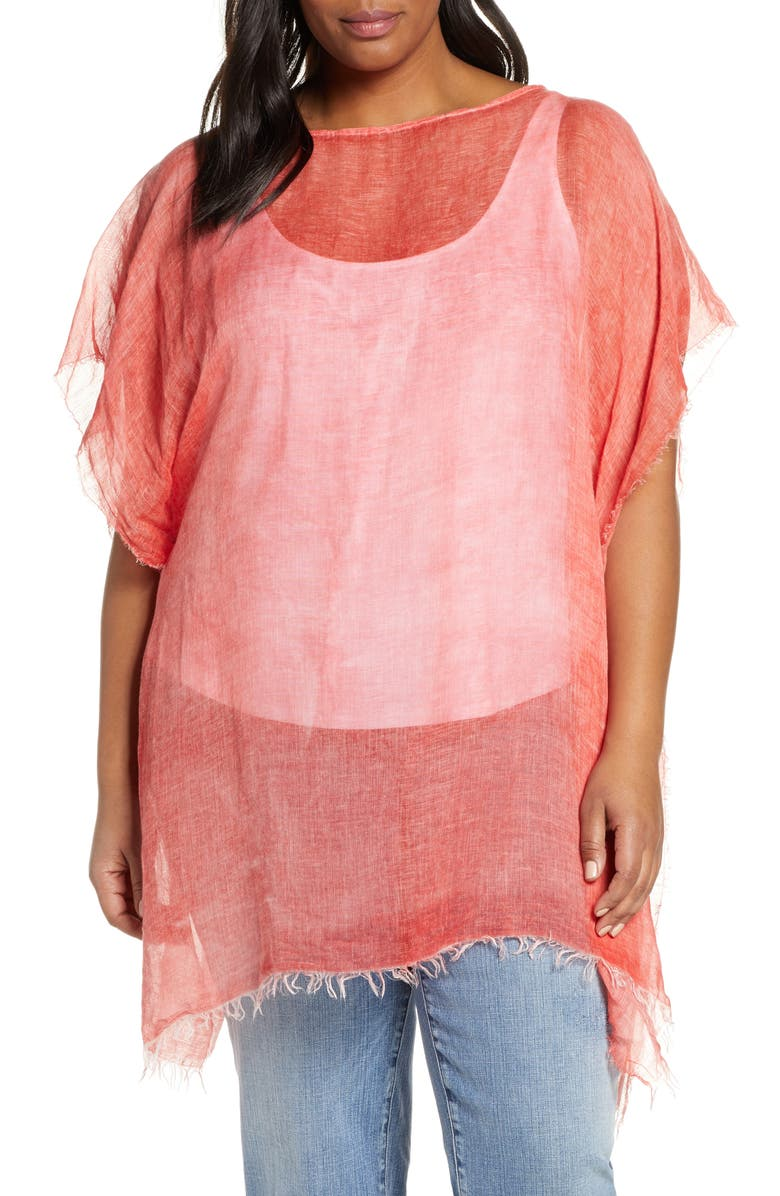 EILEEN FISHER Tencel<sup>®</sup> Lyocell Blend Poncho, Main, color, 613