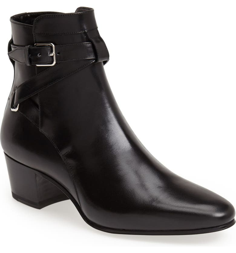SAINT LAURENT Bootie, Main, color, 001