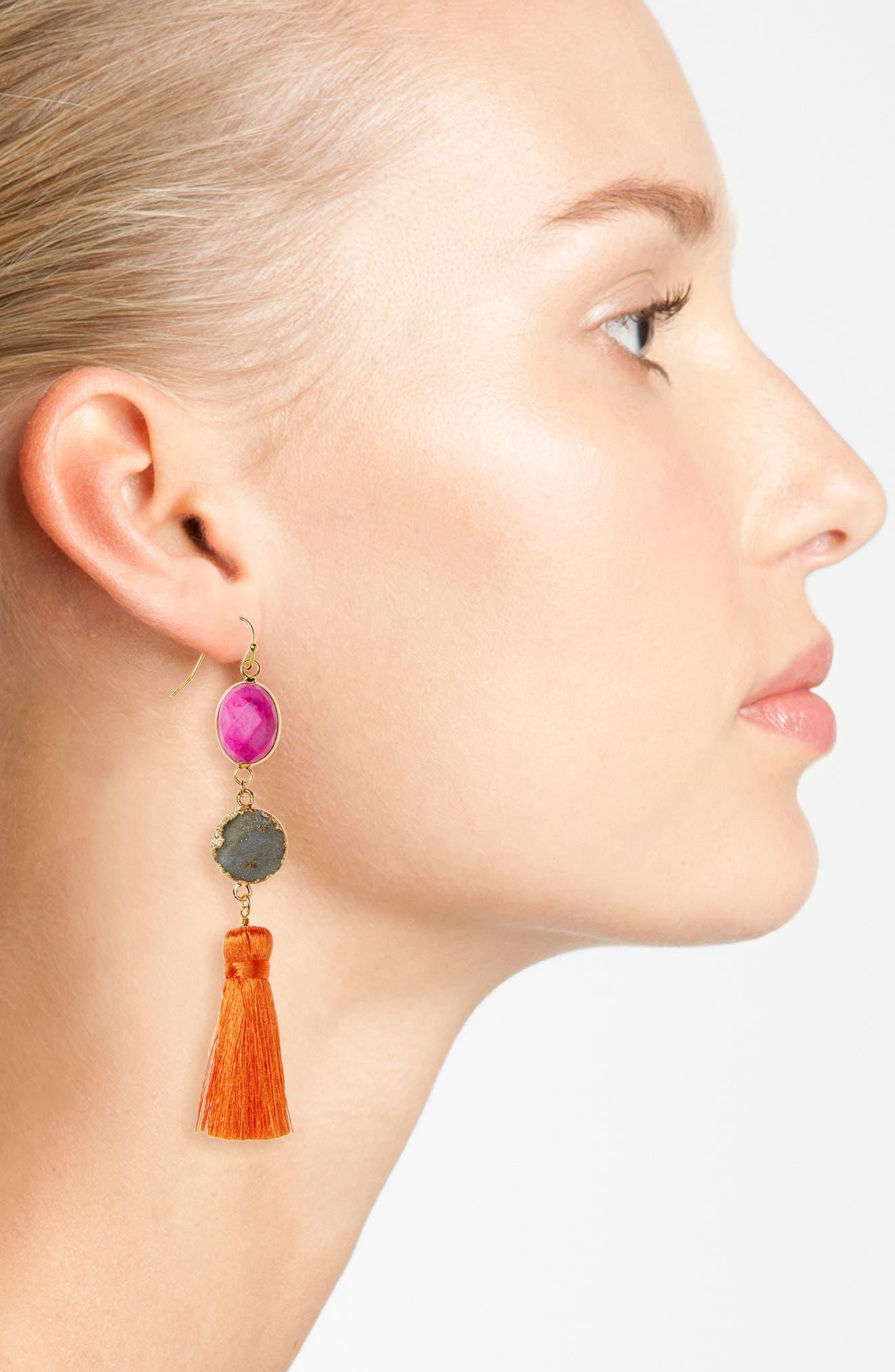 ,                             Drusy Tassel Earrings,                             Alternate thumbnail 2, color,                             650
