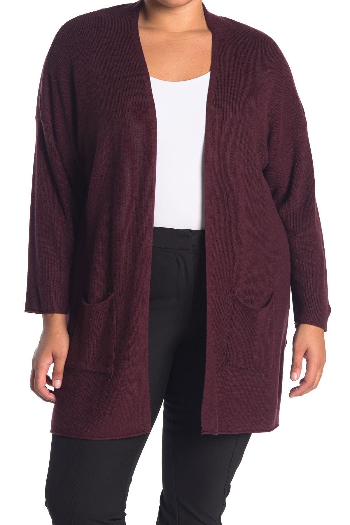 Image of T Tahari Pocket Cardigan