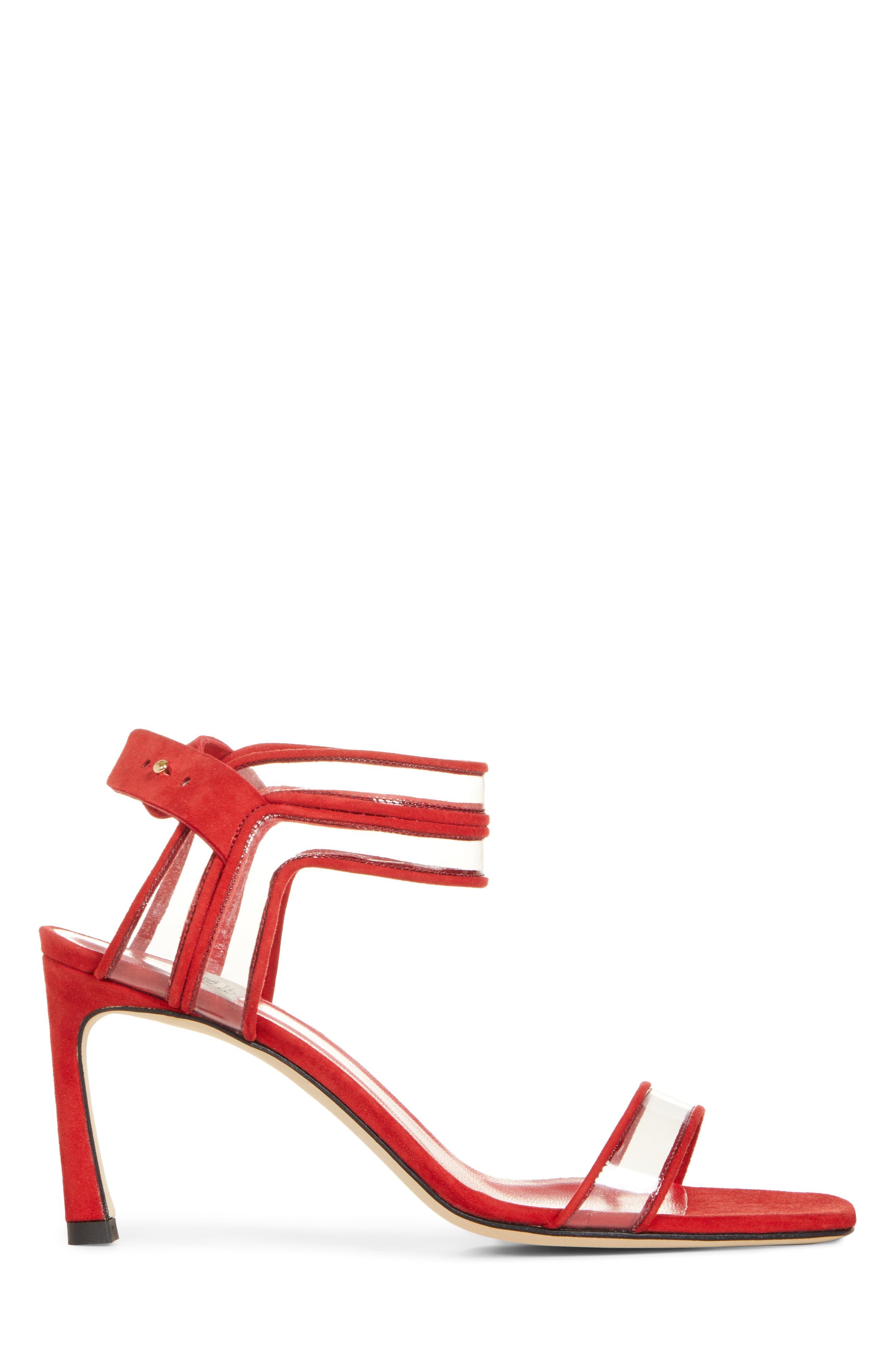,                             Winona Sandal,                             Alternate thumbnail 3, color,                             IRON RED
