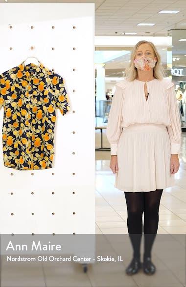 Slim Fit Citrus Print Short Sleeve Button-Down Shirt, sales video thumbnail