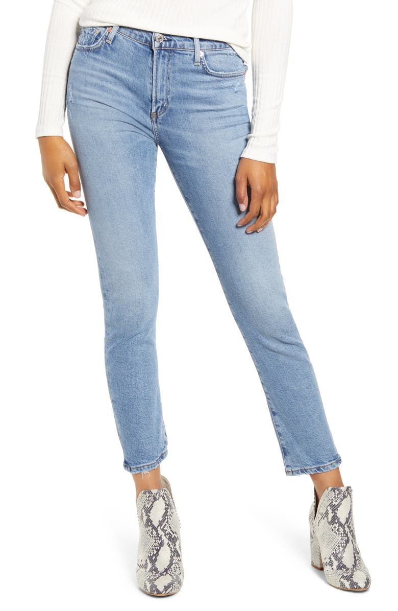 CITIZENS OF HUMANITY Harlow Ankle Slim Jeans, Main, color, CHIT CHAT