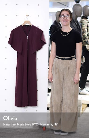 Kasiane Exposed Zip Drape Sleeve Dress, sales video thumbnail