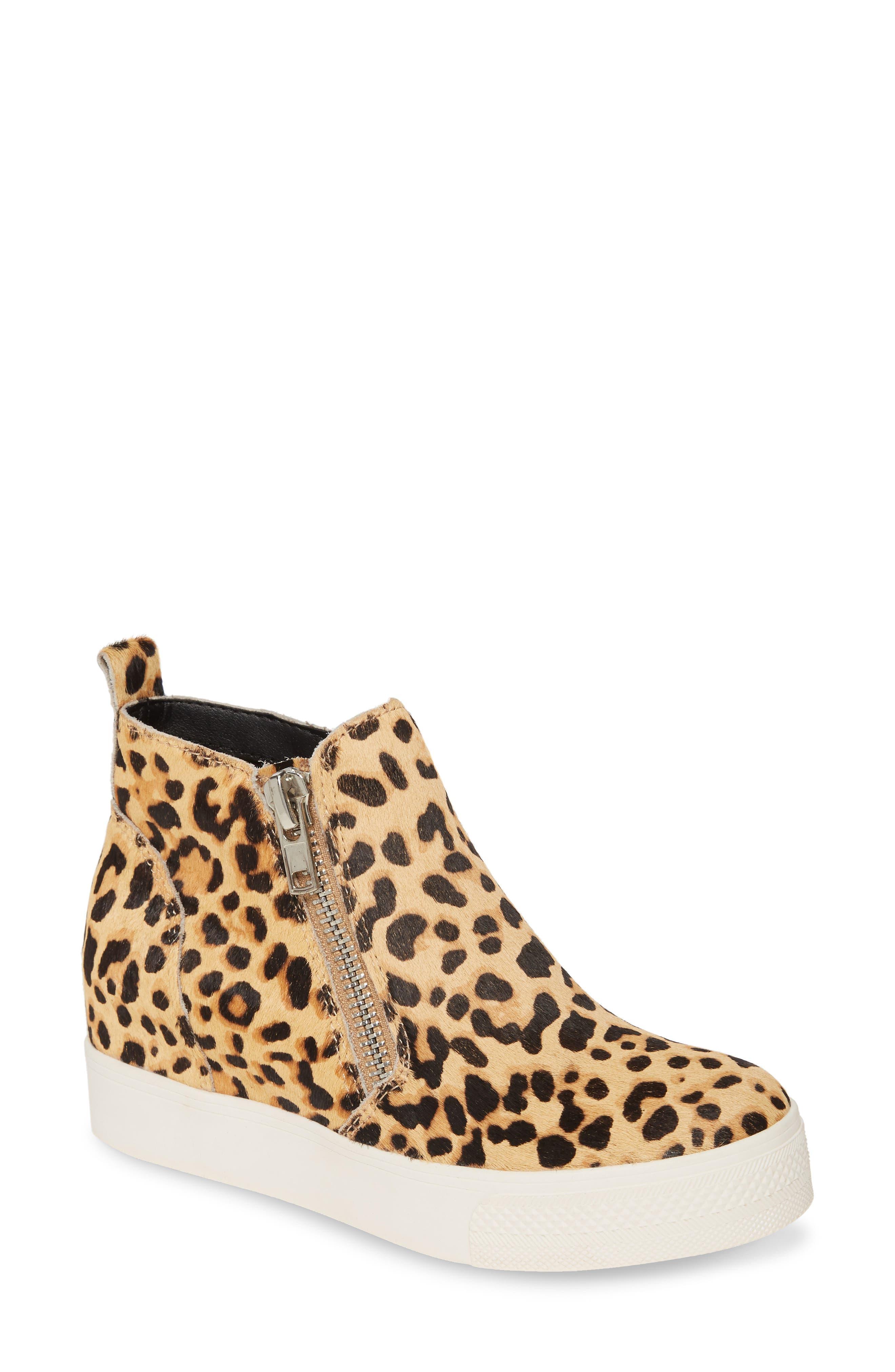 Wedgie High Top Genuine Calf Hair Platform Sneaker by Steve Madden