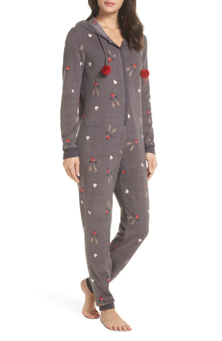 MAKE + MODEL Hooded Pajama Jumpsuit, Main, color, 021