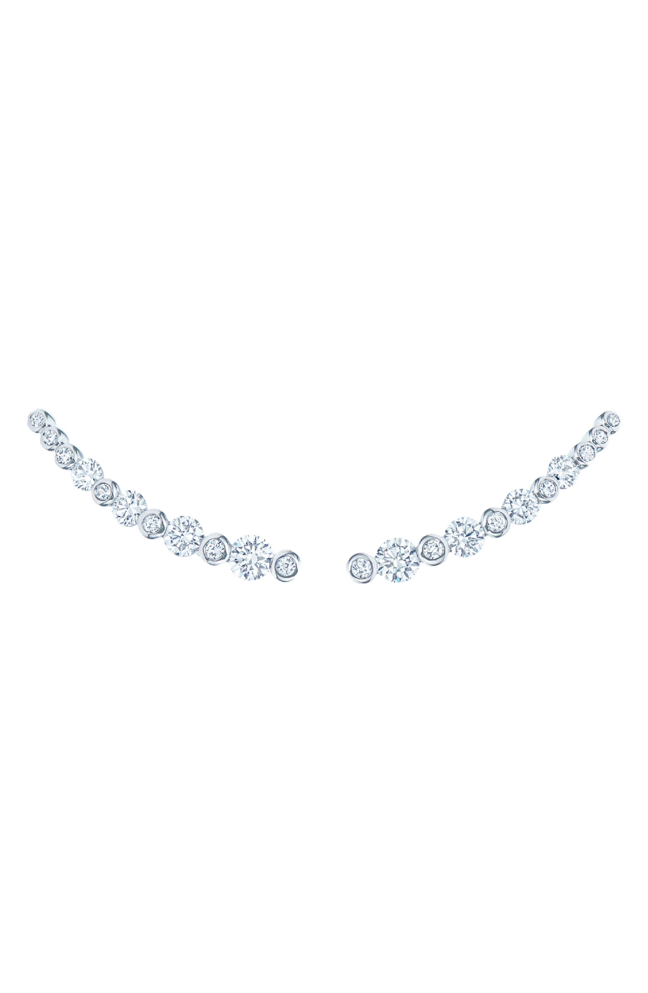 Starry Night Diamond Earrings, Main, color, WHITE GOLD