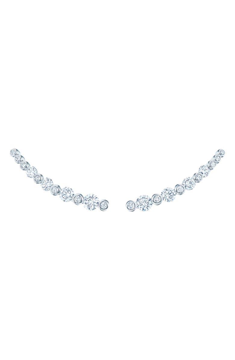 KWIAT Starry Night Diamond Earrings, Main, color, WHITE GOLD