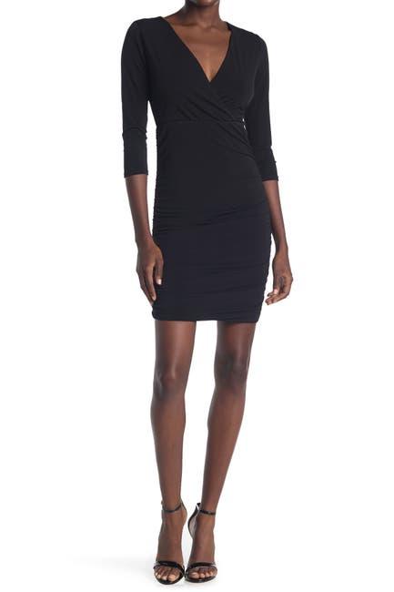 Image of KENEDIK Ity Surplice Ruched Dress