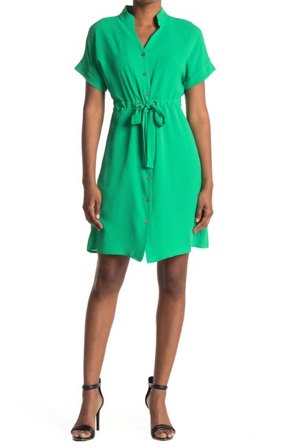 Image of Maggy London Dolman Sleeve Tie Waist Shirt Dress