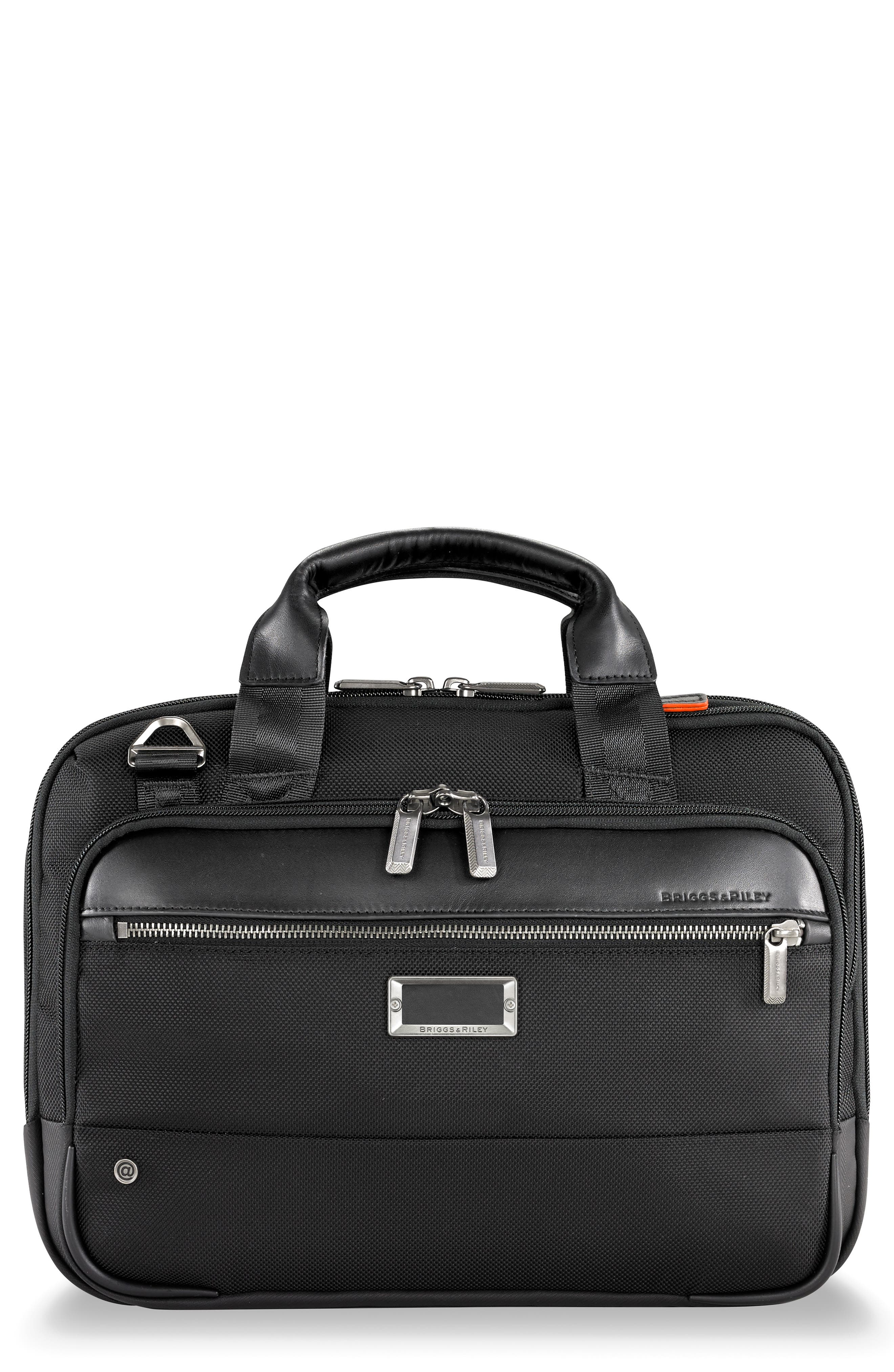 @work Small Expandable Ballistic Nylon Laptop Briefcase With Rfid Pocket