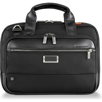 Briggs & Riley @work Small Expandable Ballistic Nylon Laptop Briefcase With Rfid Pocket - Black