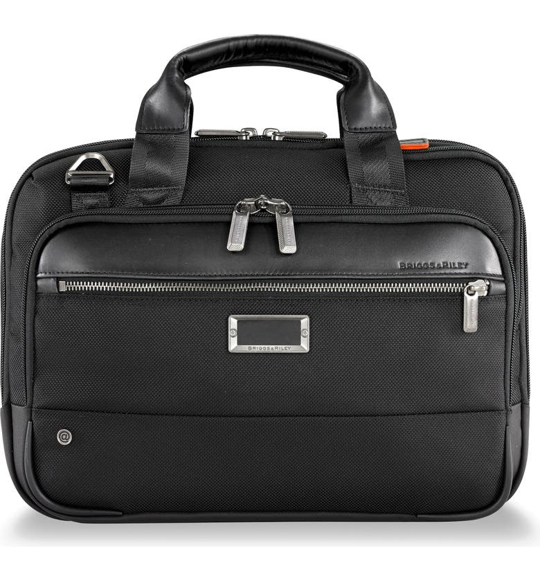 BRIGGS & RILEY @work Small Expandable Ballistic Nylon Laptop Briefcase with RFID Pocket, Main, color, BLACK