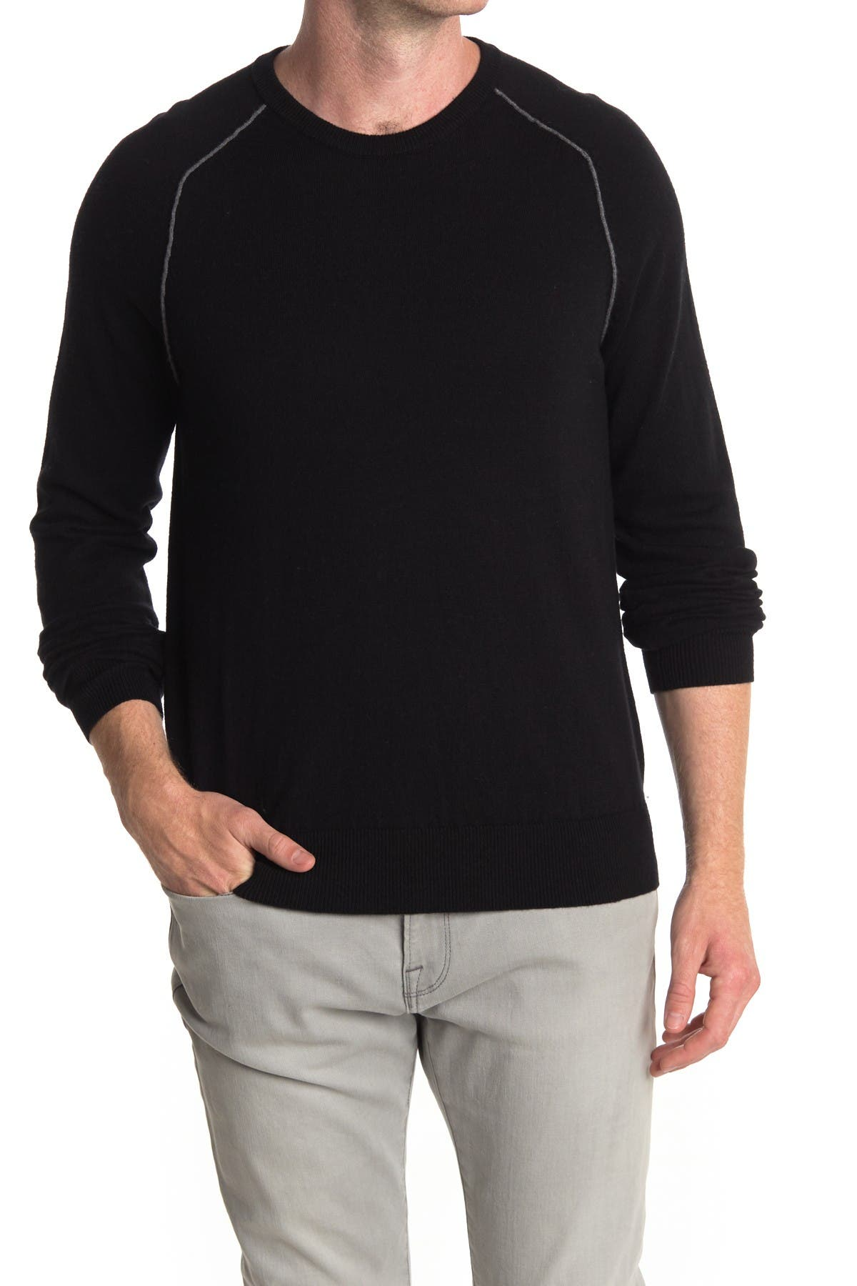 Image of AMICALE Cotton Cashmere Blend Pullover Sweater
