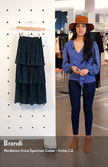 Star Tiered Pleated Midi Skirt, sales video thumbnail