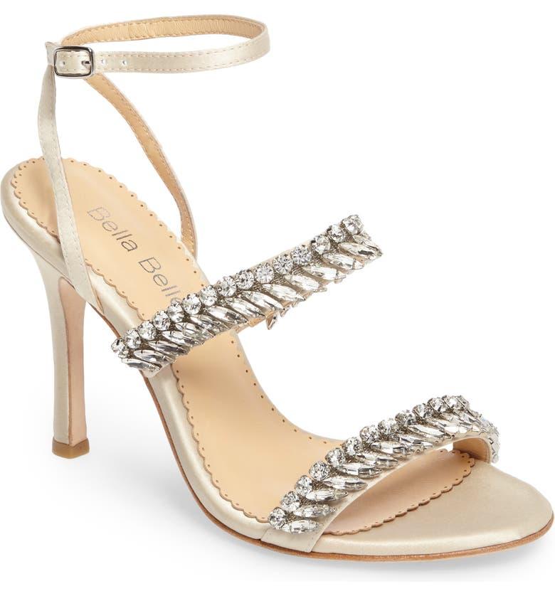 BELLA BELLE Belinda Embellished Sandal, Main, color, CHAMPAGNE