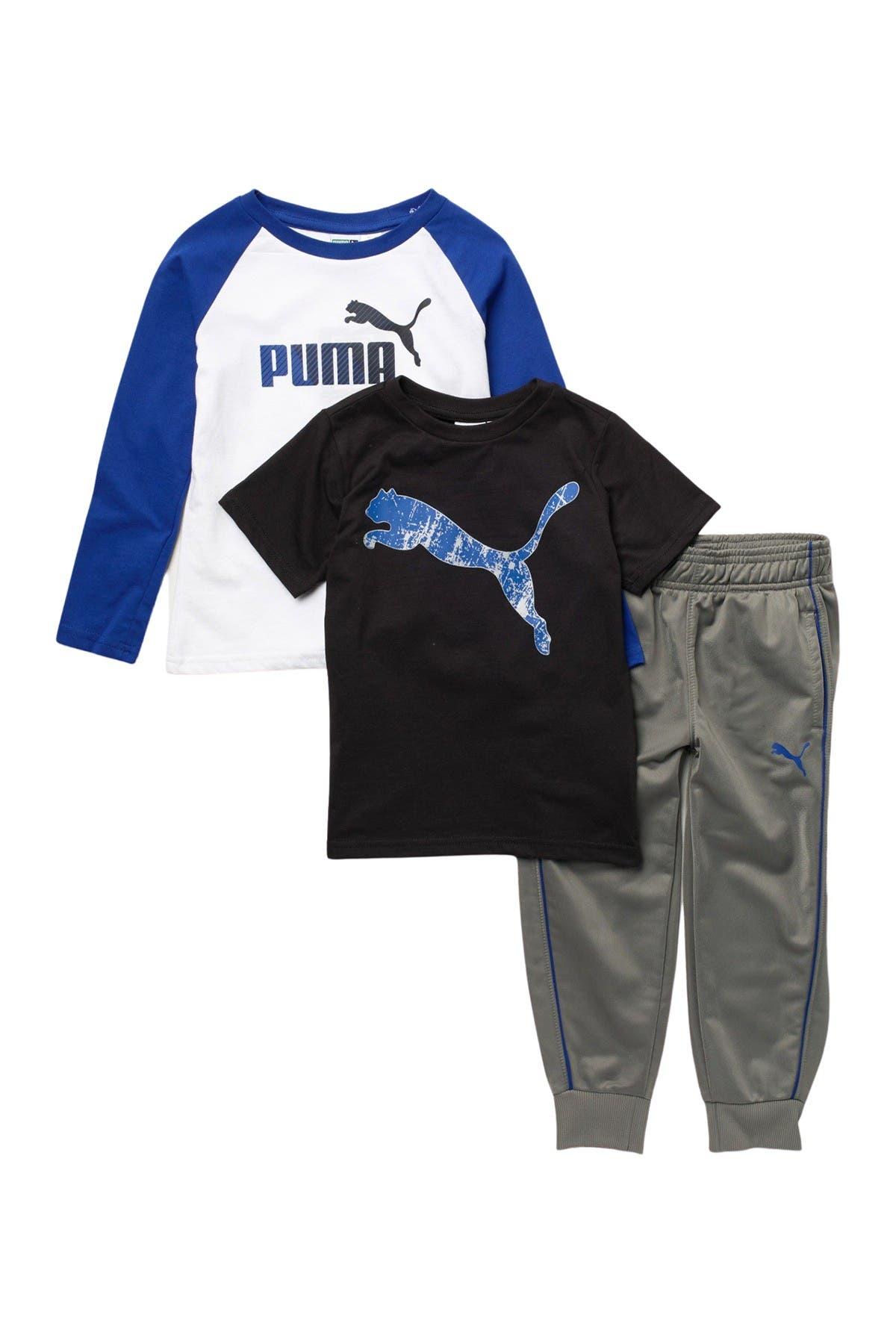 /& Jogger Set Short Sleeve Long Sleeve Long Sleeve /& Jogger Set PUMA Boys Short Sleeve