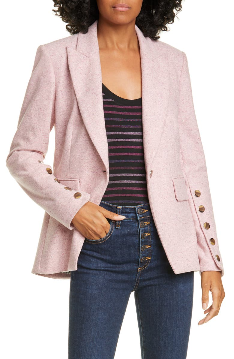 VERONICA BEARD Steele Wool Blend Dickey Jacket, Main, color, 650