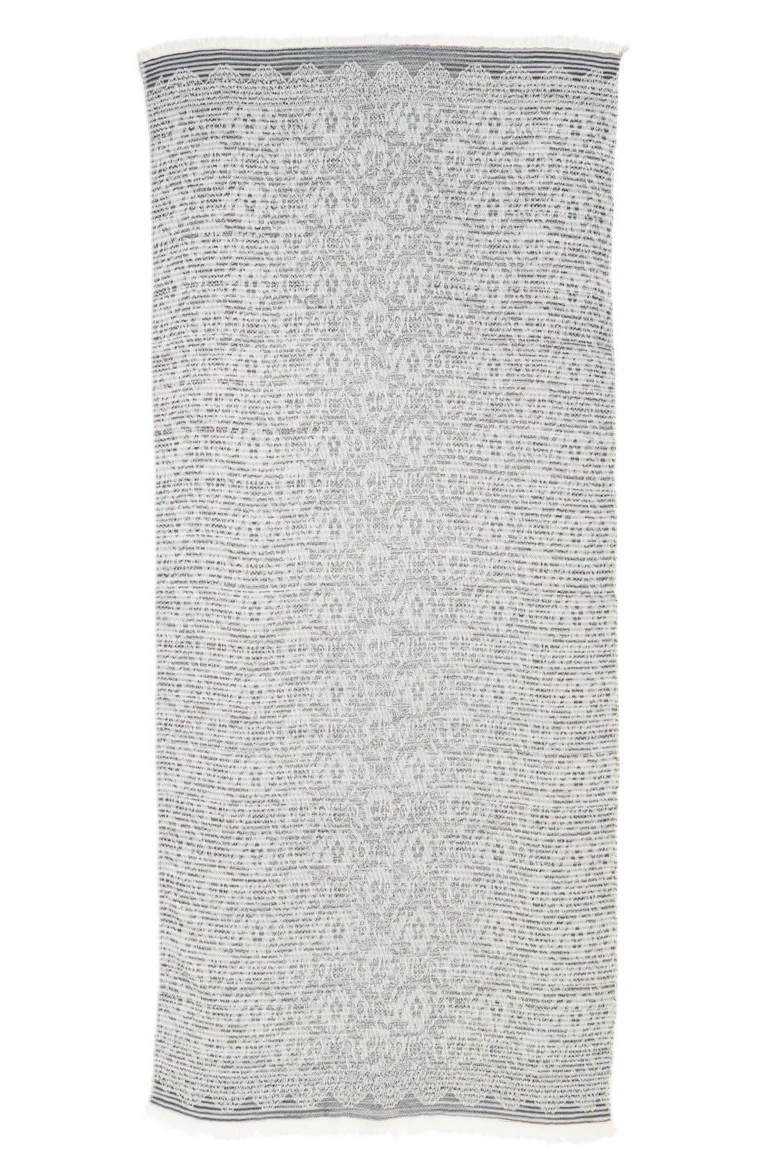 ,                             Brushed Floral Print Wrap,                             Alternate thumbnail 3, color,                             400