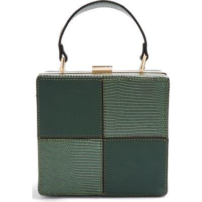 Topshop Gia Boxy Faux Leather Bag - Green