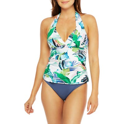 La Blanca In The Moment Tankini Top, White