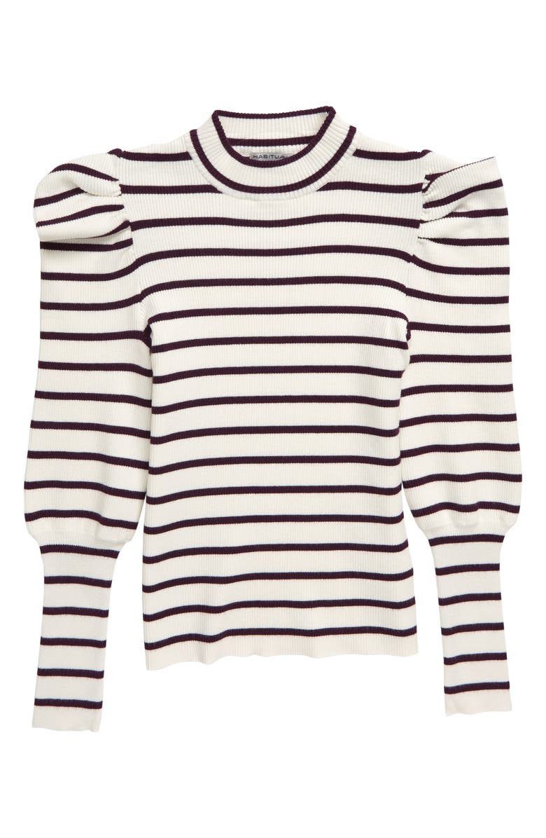 HABITUAL Eden Stripe Puff Sleeve Sweater, Main, color, 550