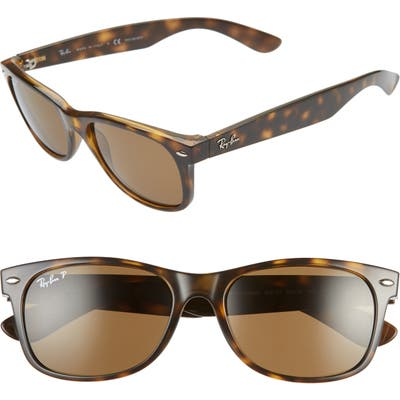 Ray-Ban 55Mm Polarized Square Sunglasses - Tortoise