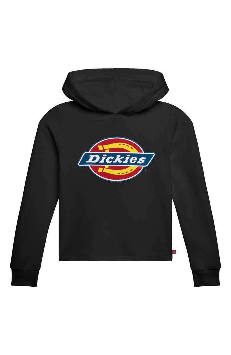 DICKIES Logo Hoodie, Main, color, BLACK