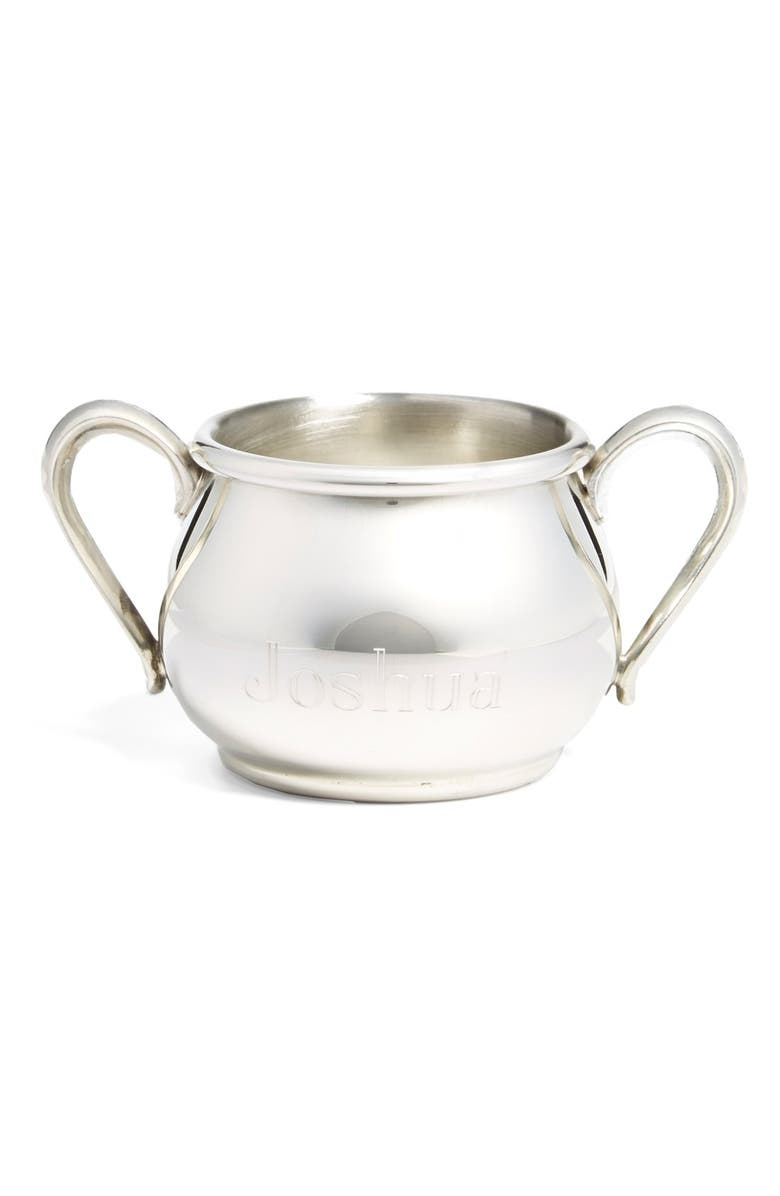 SALISBURY PEWTER Personalized Double Handle Baby Cup, Main, color, PEWTER