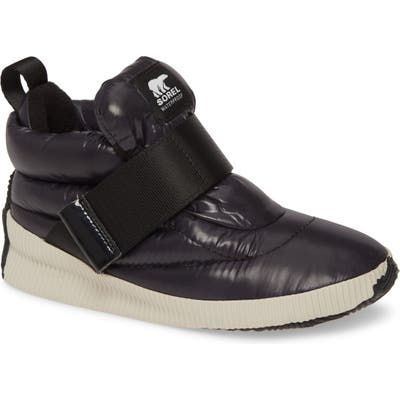 Sorel Out N About Puffy Insulated Waterproof Sneaker Boot, Black